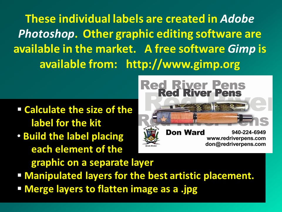 These individual labels are created in Adobe Photoshop
