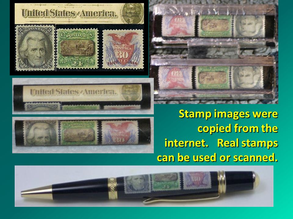 Stamp images were copied from the internet