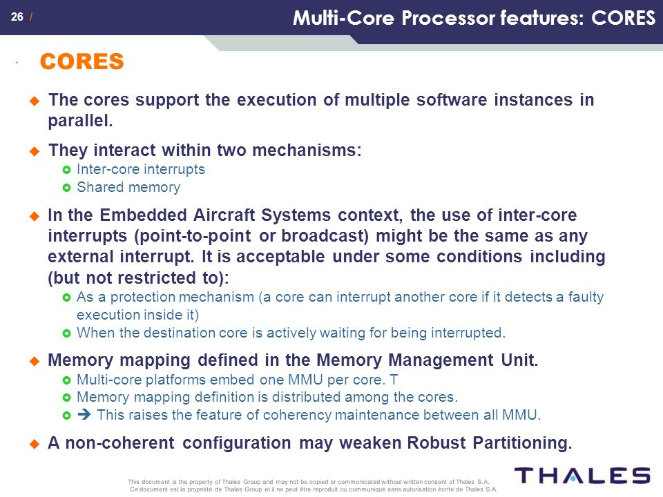 Multi-Core Processor features: CORES