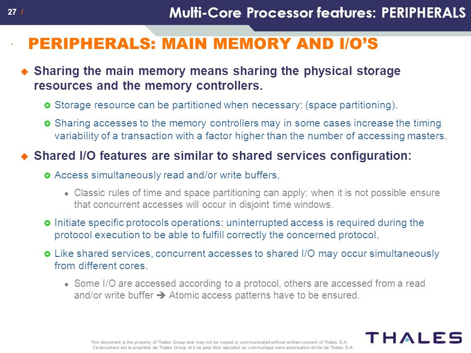 Multi-Core Processor features: PERIPHERALS