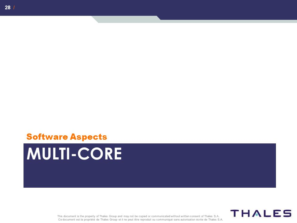Software Aspects Multi-core