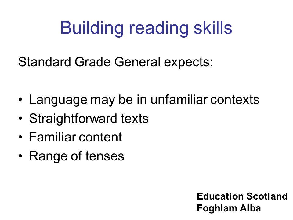 Building reading skills
