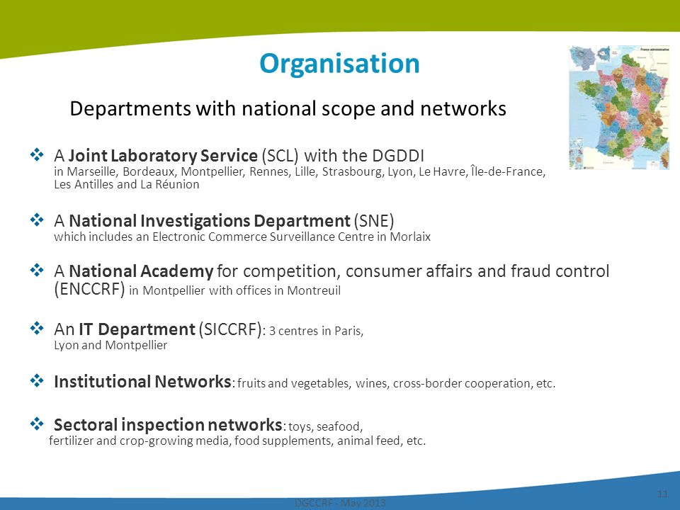 Departments with national scope and networks