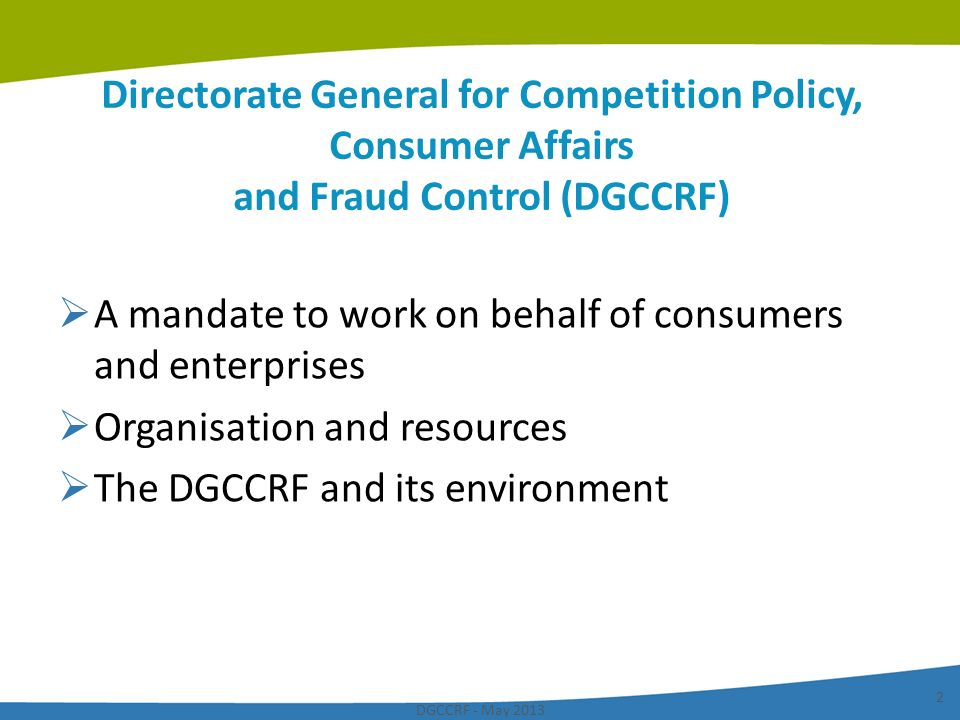 A mandate to work on behalf of consumers and enterprises