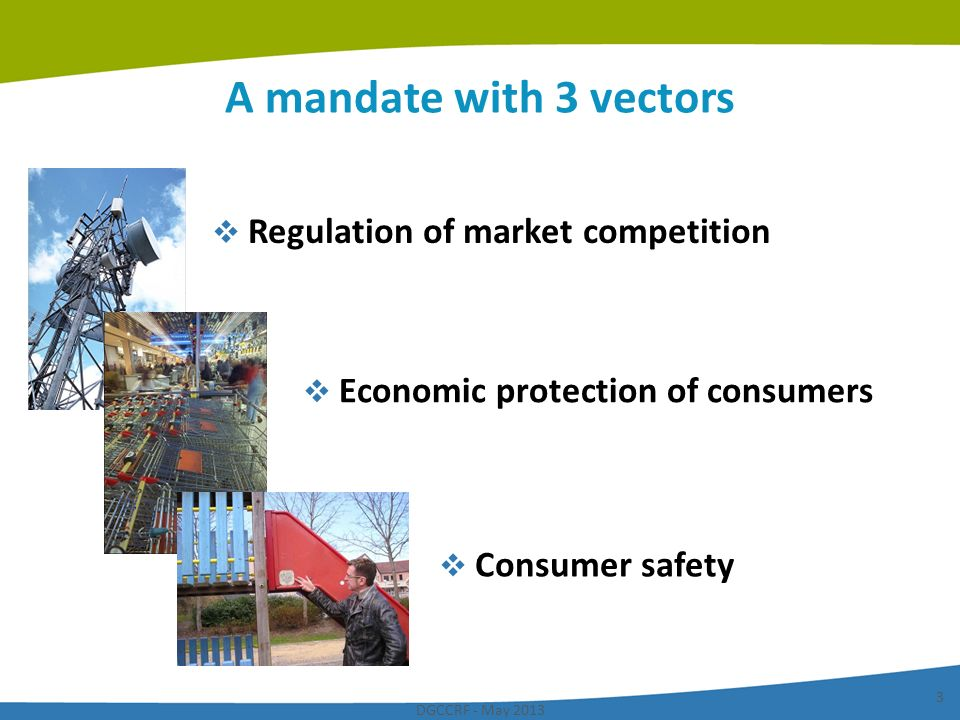 A mandate with 3 vectors Regulation of market competition