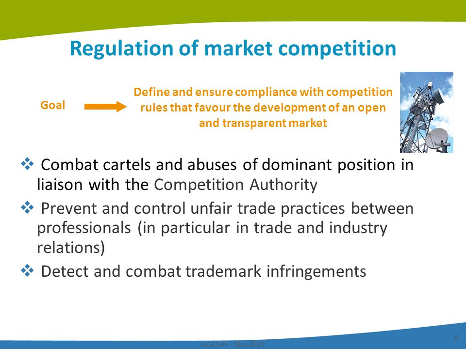 Regulation of market competition