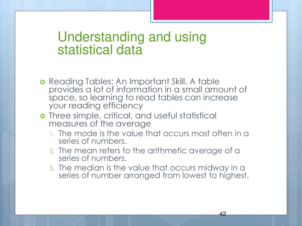 uses of statistical information The internet has brought us so much more information statistics are often used to support our opinions or views, and they show up in all types of media, including the internet but are we more informed and educated on issues as common and important as health care let's take a look at some.