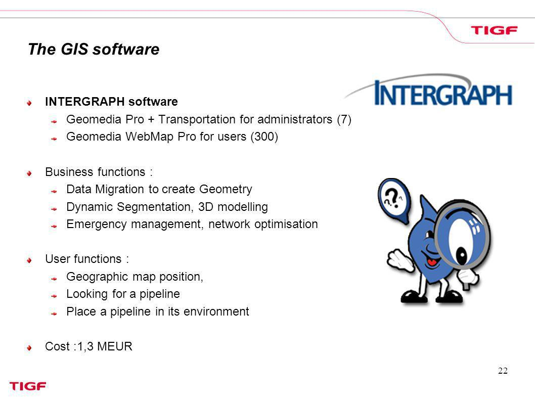 The GIS software INTERGRAPH software
