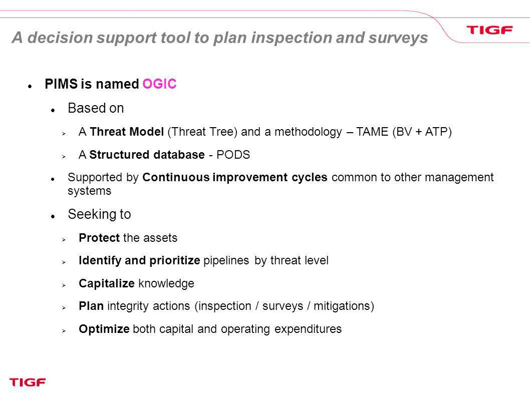 A decision support tool to plan inspection and surveys