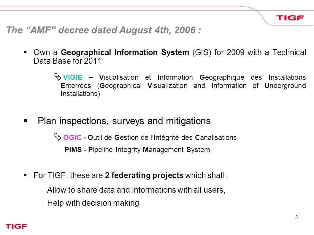 The AMF decree dated August 4th, 2006 :
