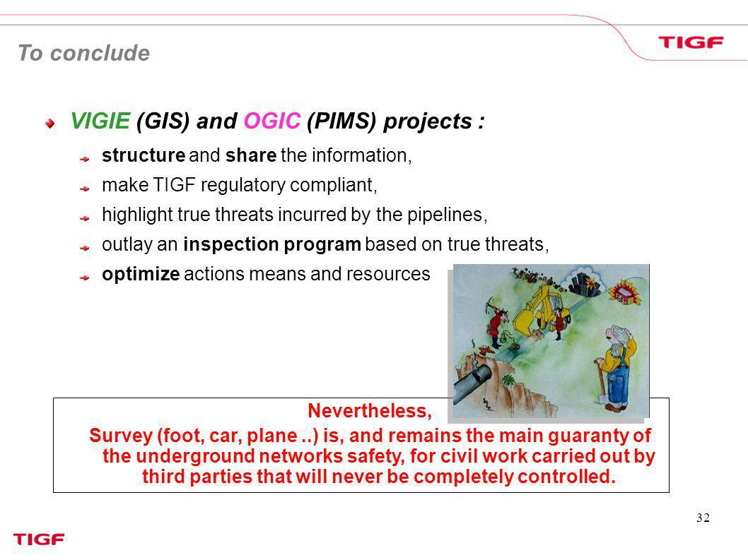 VIGIE (GIS) and OGIC (PIMS) projects :