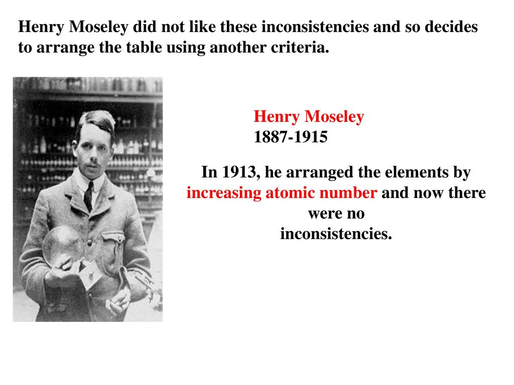 Periodic table topic ppt download 6 henry moseley did gamestrikefo Choice Image