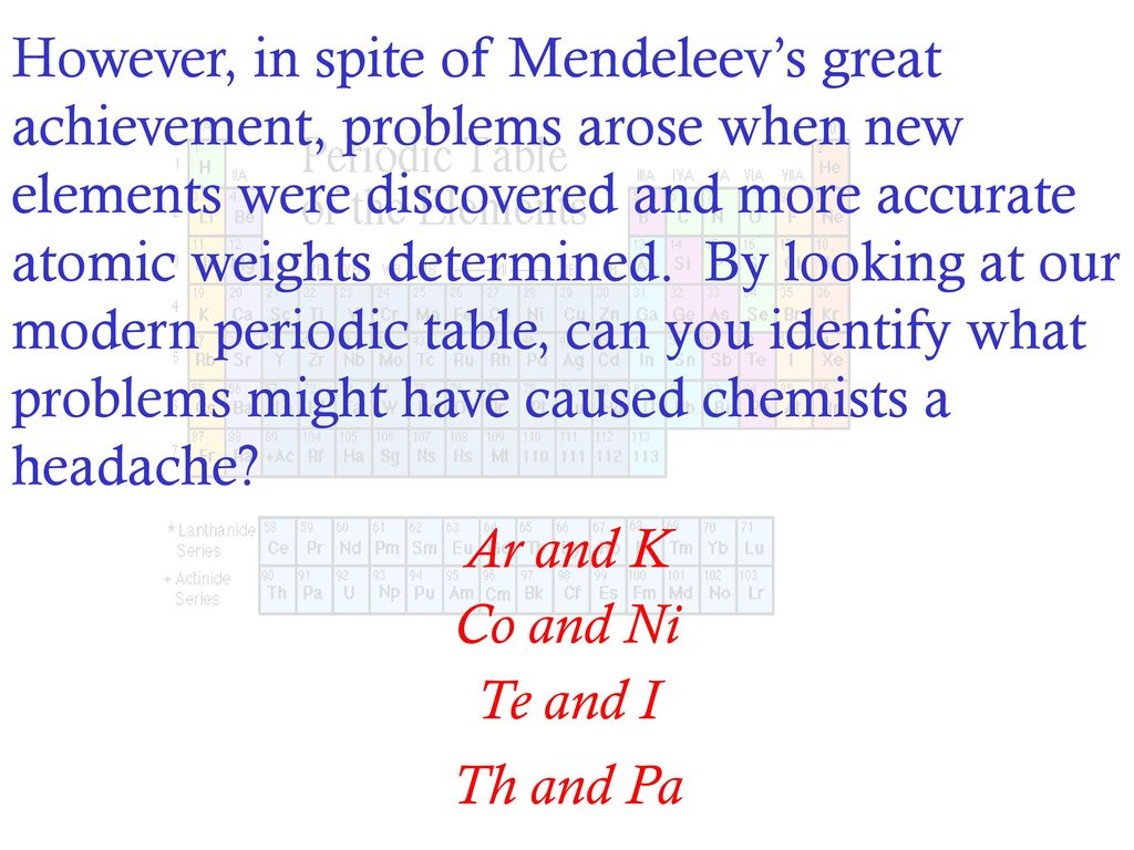 What is the contribution of john newlands in periodic table choice what did newlands contribute to the periodic table gallery what is the contribution of john newlands gamestrikefo Images