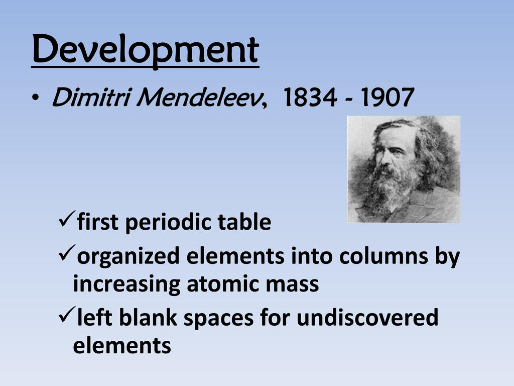 Elements in the periodic table are arranged according to choice the periodic tablean arrangement of elements according to development dimitri mendeleev 1834 1907 first periodic table gamestrikefo Image collections