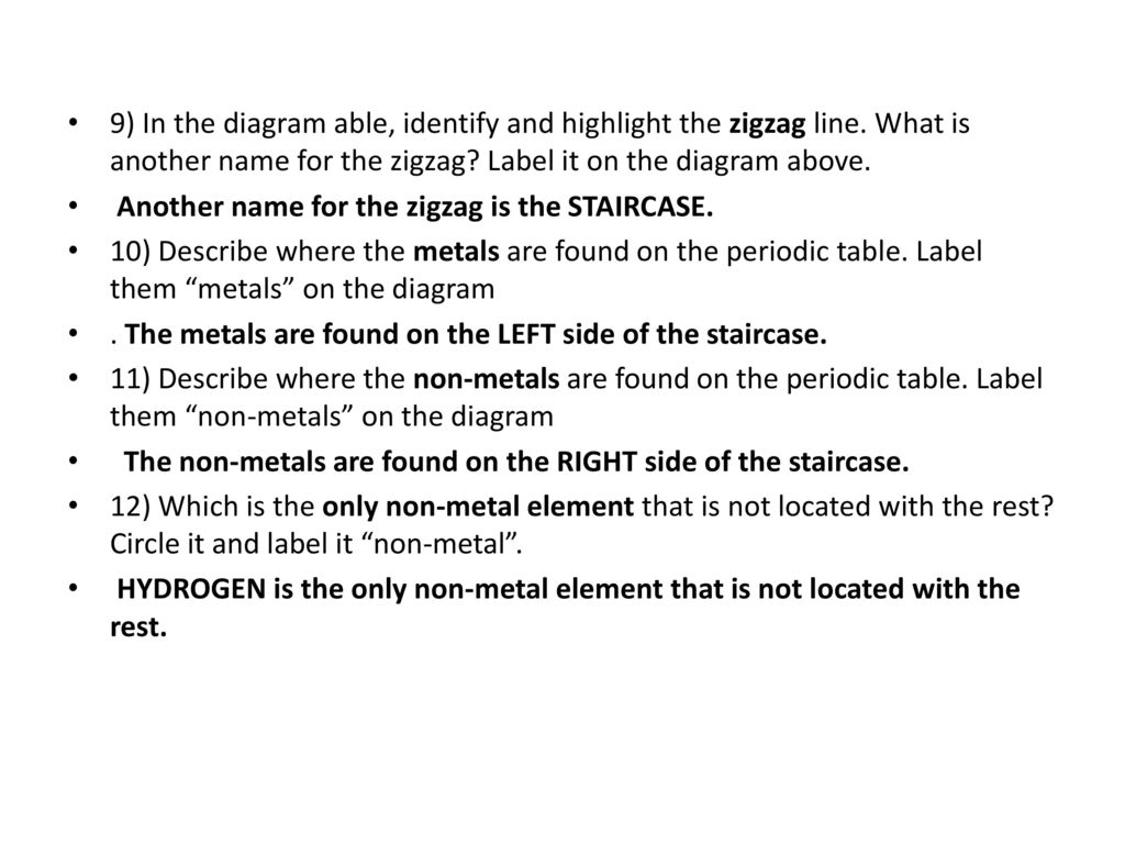 Warm up form the picture define in your own words element ppt 9 in the diagram able identify and highlight the zigzag line urtaz Image collections