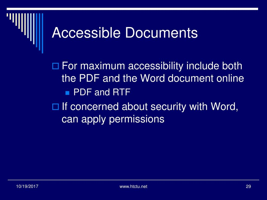 Creating accessible pdfs ppt download for Accessible pdf documents
