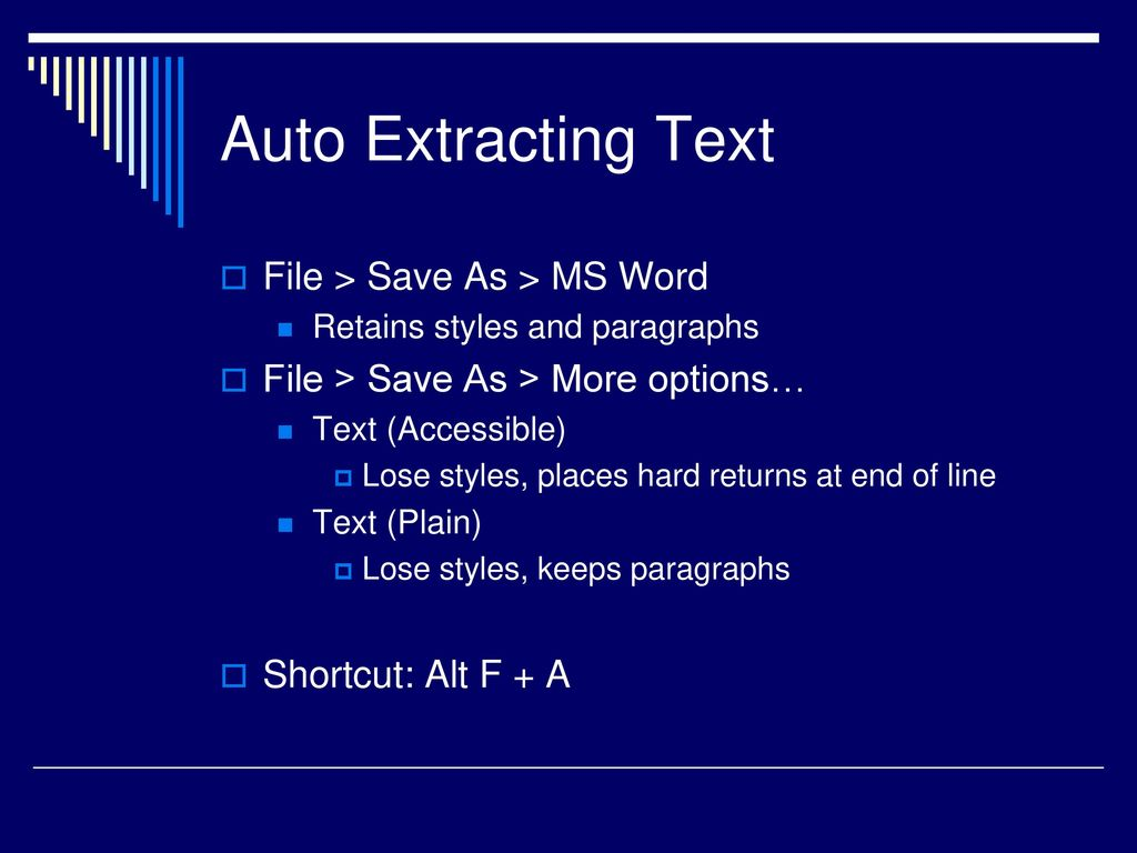 save pdf as text file