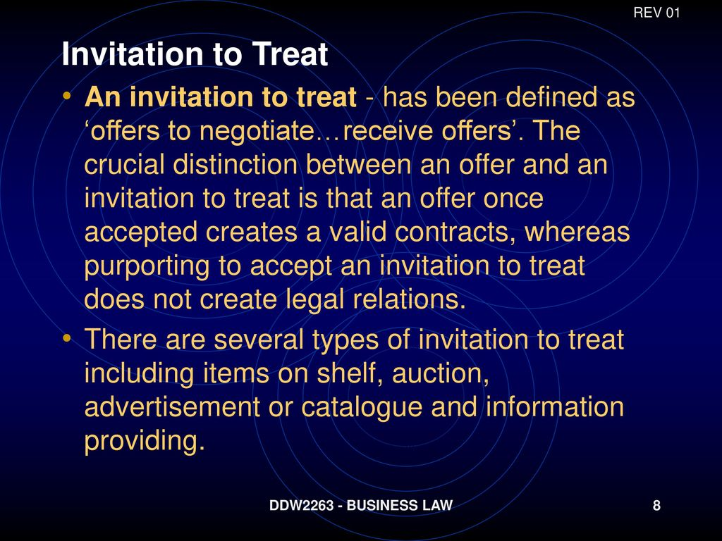Meaning of contract offer acceptance ppt download rev 01 invitation to treat stopboris Images