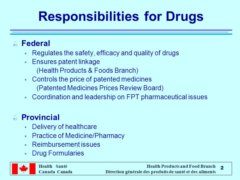 Responsibilities for Drugs