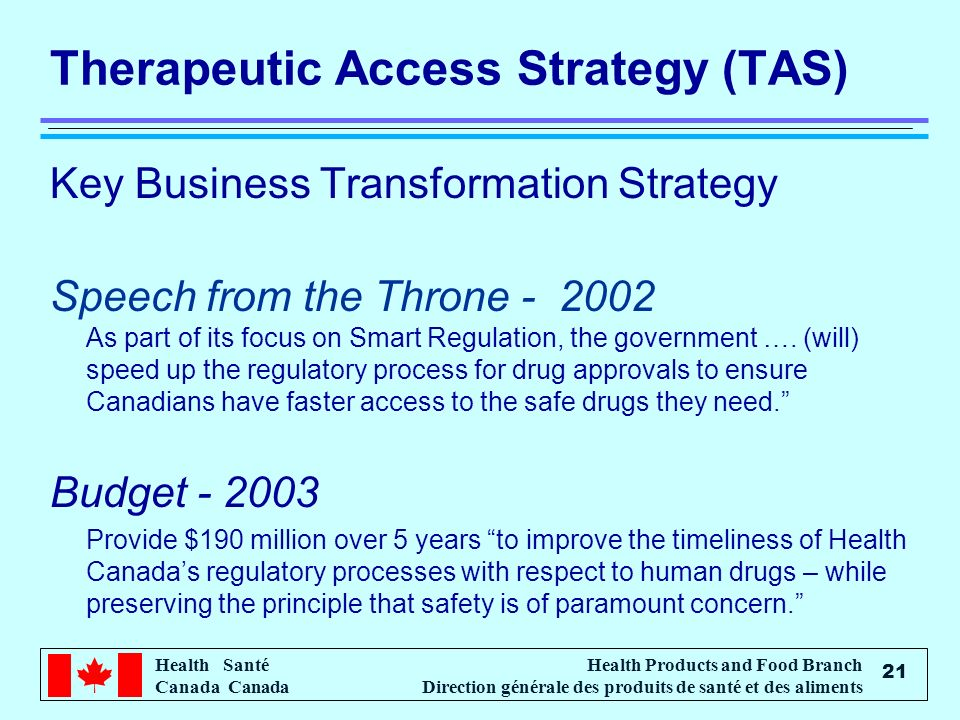 Therapeutic Access Strategy (TAS)