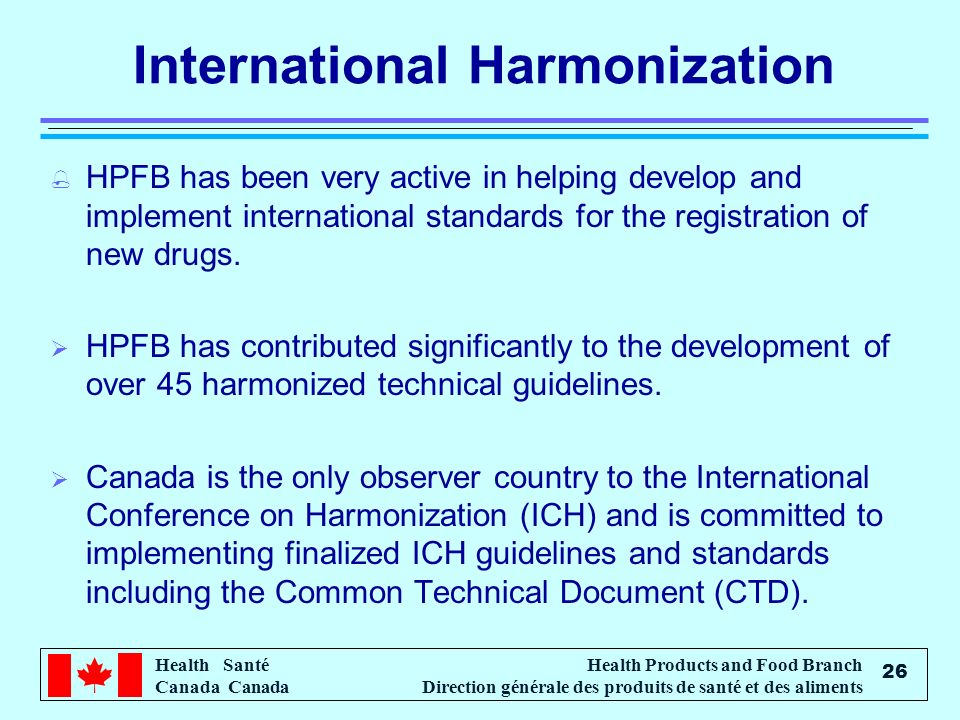 International Harmonization