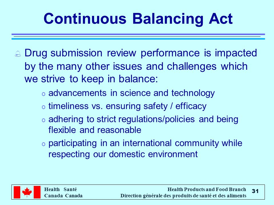 Continuous Balancing Act