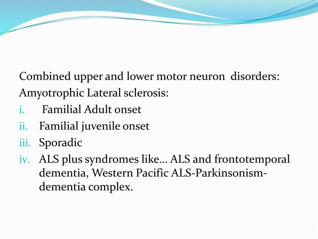 Upper Motor Neuron Disease Definition