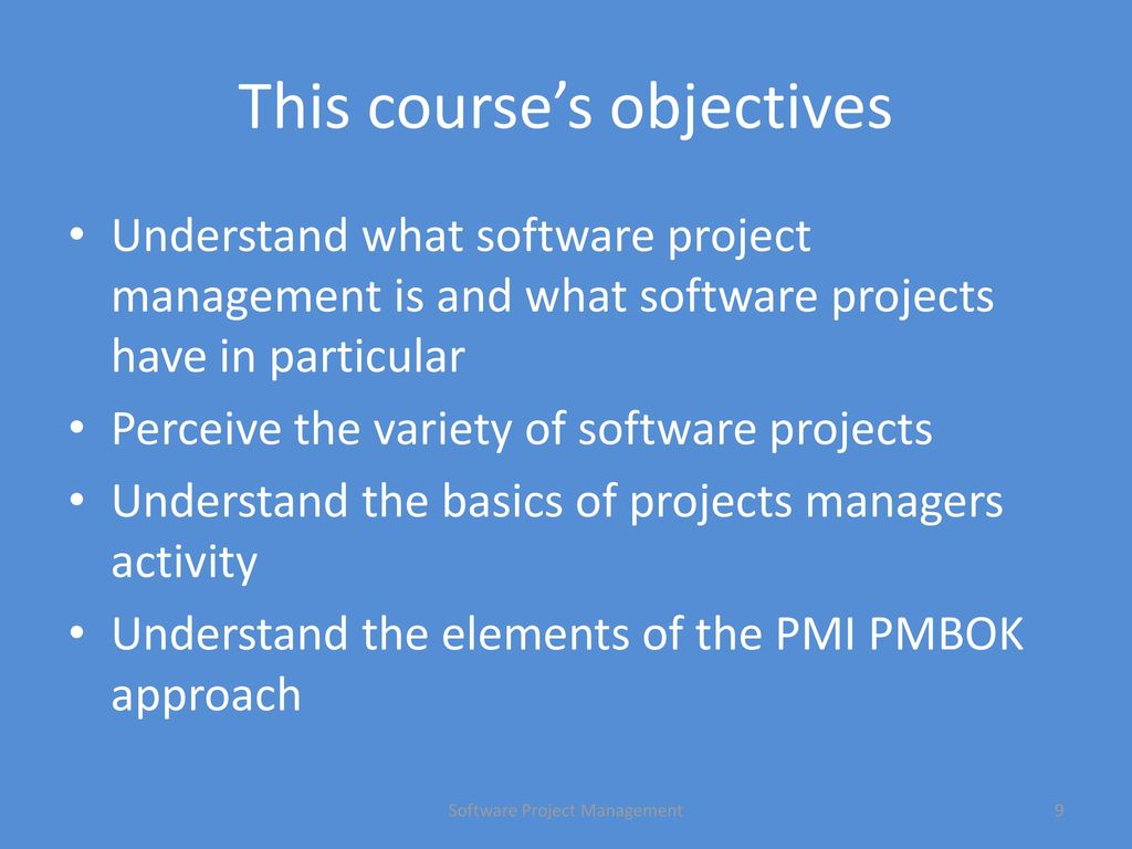 software project management - coursework Build on your software management coursework by learning about one of the   work as a team to develop a project plan and detailed statement of work and.