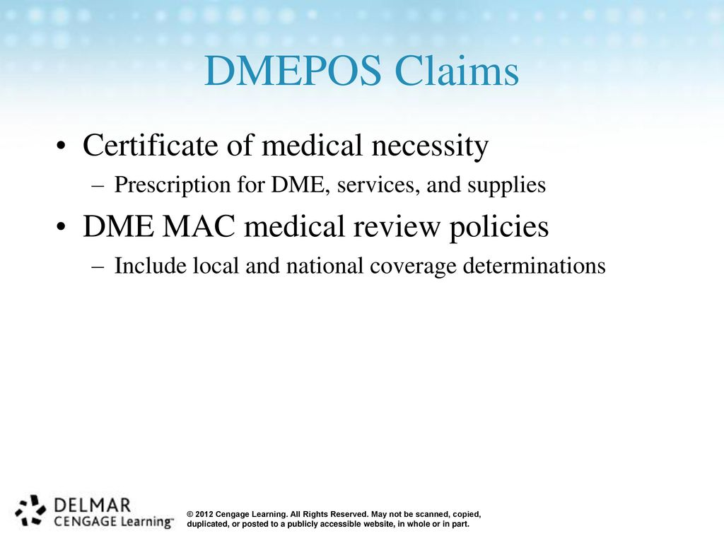Hcpcs level ii national coding system ppt video online download dmepos claims certificate of medical necessity 1betcityfo Gallery