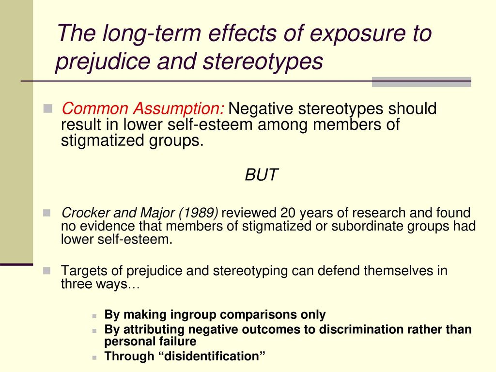 The negative consequences of stereotyping people