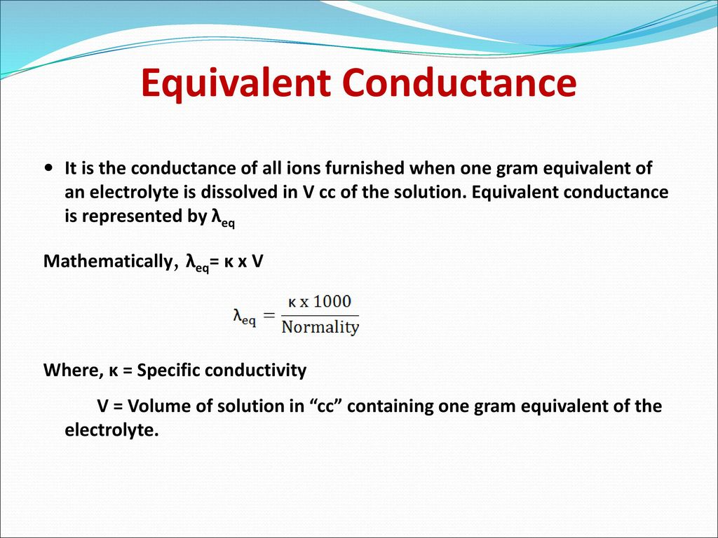 electrochemistry part 2  conductance of solutions