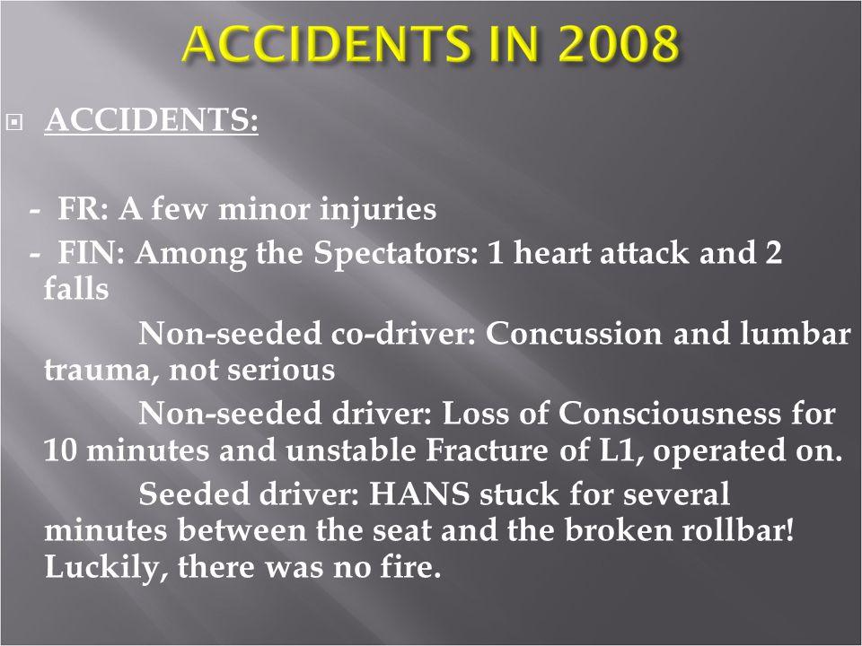 - FR: A few minor injuries