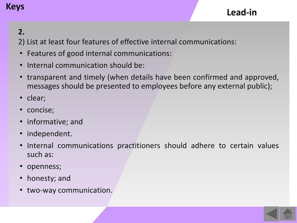 key messages internal communications pdf