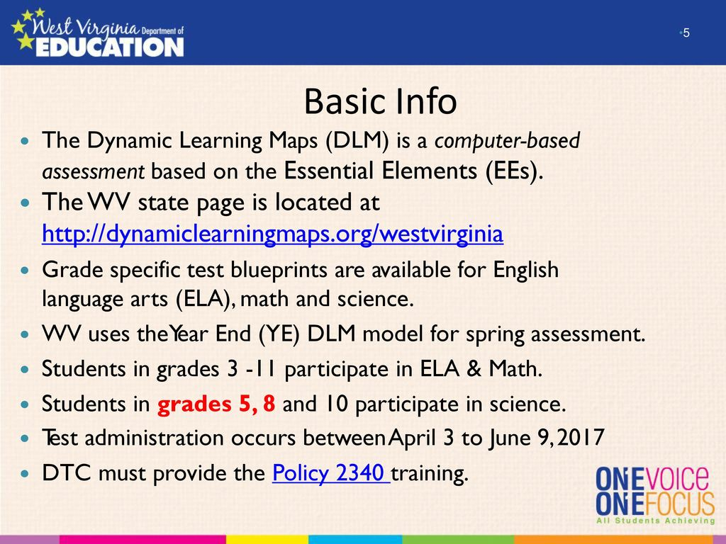 overview and preparation for the – dlm alternate  - basic info the dynamic learning maps (dlm) is a computerbased assessmentbased