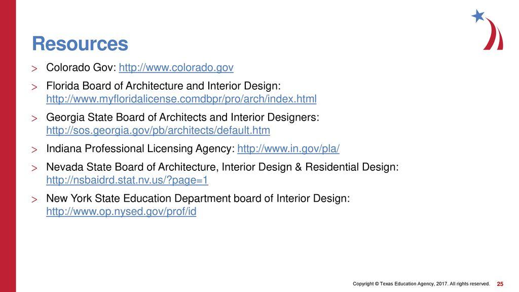 Interior Design License Requirements ppt download