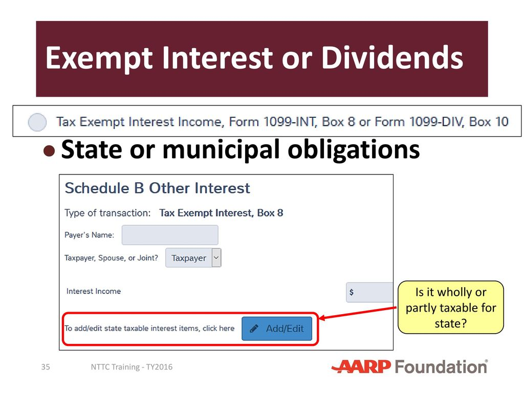 Interest and dividend income ppt download 35 exempt interest or dividends falaconquin