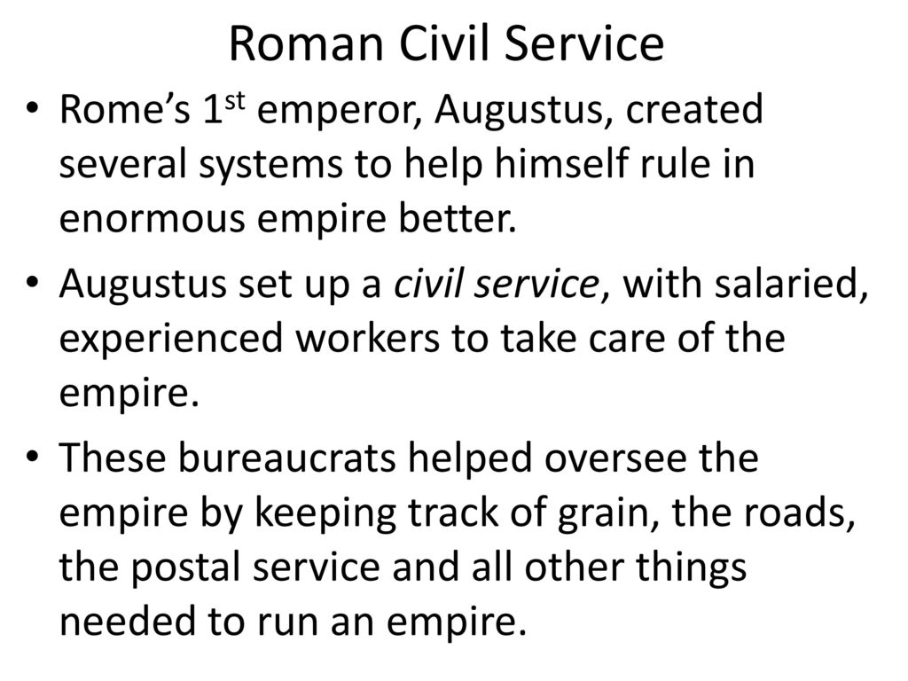 roman civil serive It's safe to say that civil service reform is inevitable the trump campaign made  that clear the political winds appear to be solidly behind the.