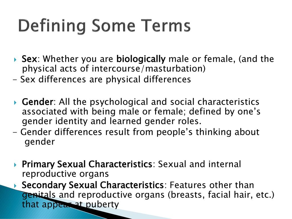 Define Gender And Human Sexuality
