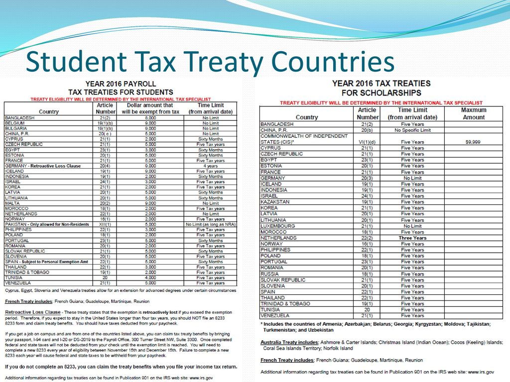 2016 foreign national tax seminar ppt download 13 student tax treaty countries falaconquin