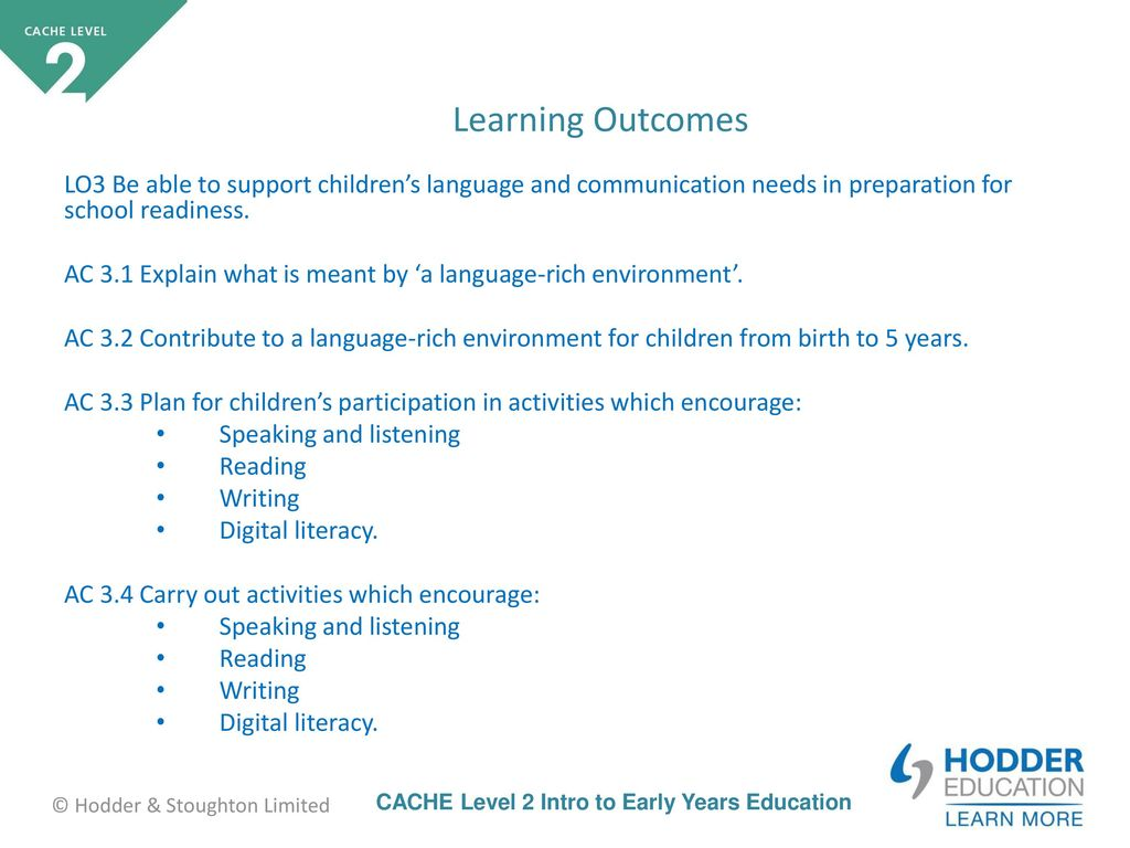 contribute to the support of children s communication language and literacy Scdccld0345 promote literacy, numeracy and language development for children's early learning 1 overview this standard identifies the requirements when promoting literacy, numeracy and language for children's early learning.