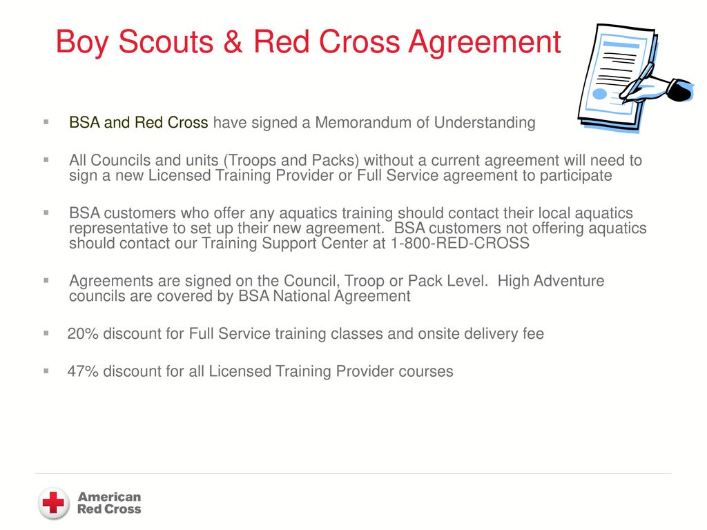 Boy scouts of america and the american red cross ppt download boy scouts red cross agreement xflitez Gallery
