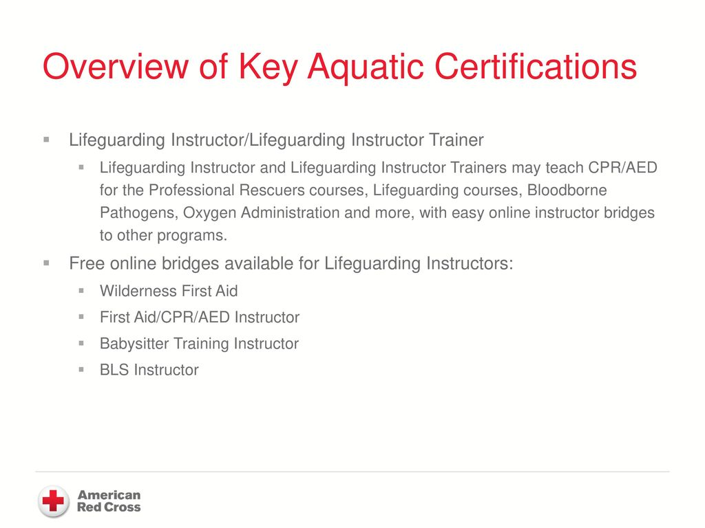 Boy scouts of america and the american red cross ppt download overview of key aquatic certifications 1betcityfo Choice Image