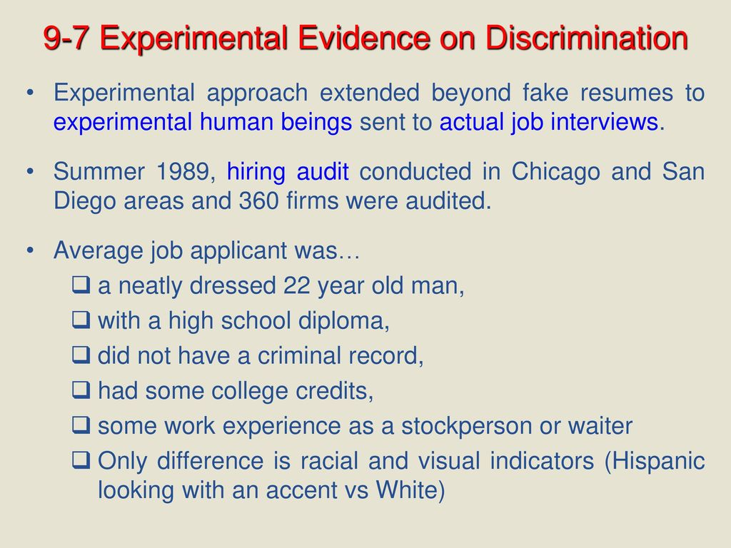 CHAPTER Race and Gender in the Labor Market - ppt download