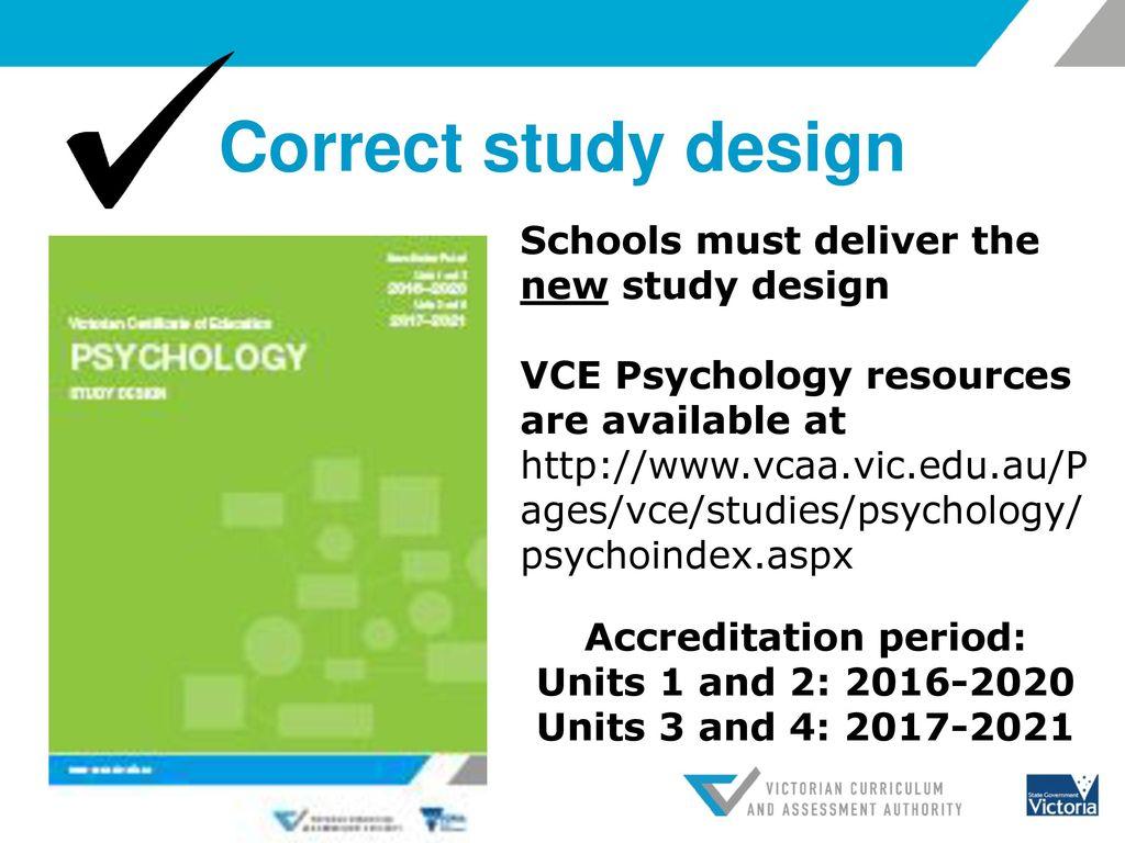 Vcaa study design performance