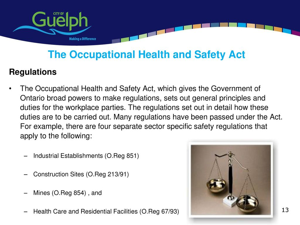 health and safety regulations in hotels The health and safety reform bill has passed and the new law (the health and safety at work act)  development of regulations to support the new health and safety.