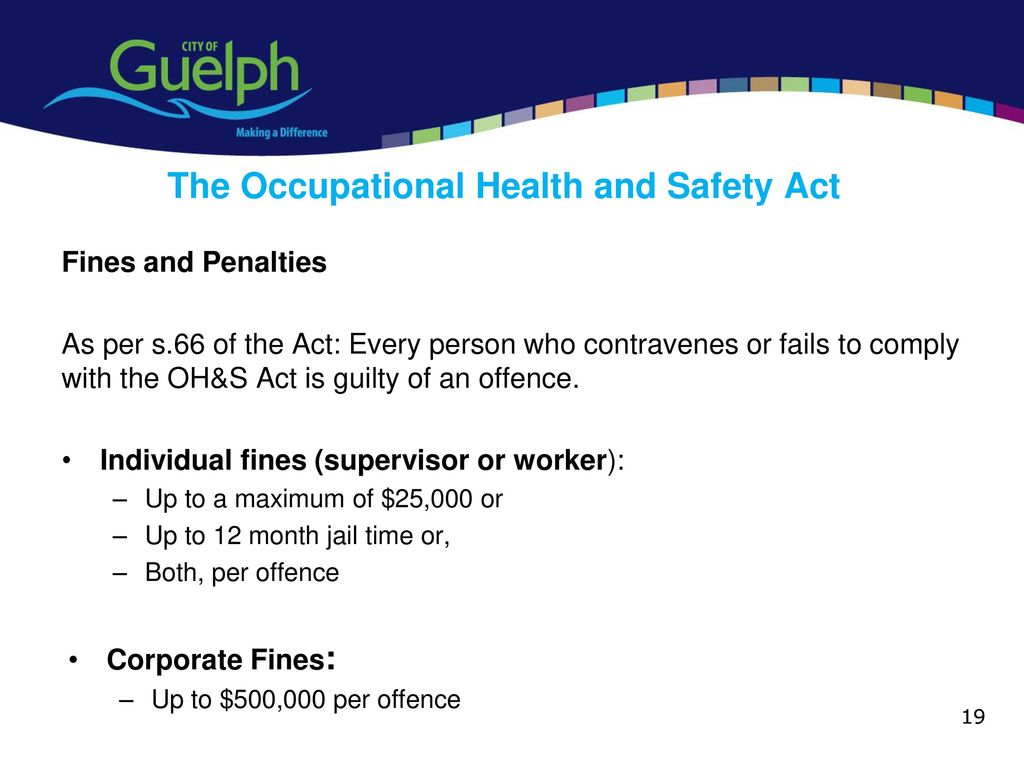occupational health and safety act and regulations pdf