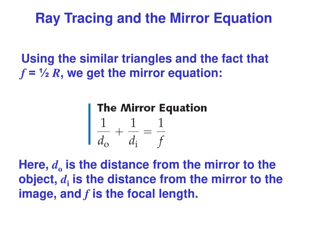Geometrical optics ppt download for Mirror formula