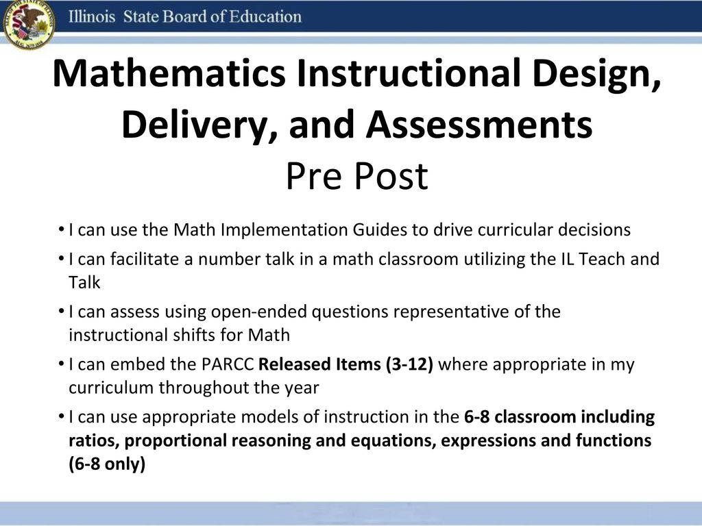 Classroom Design And Delivery : Mathematics instructional design delivery and assessment