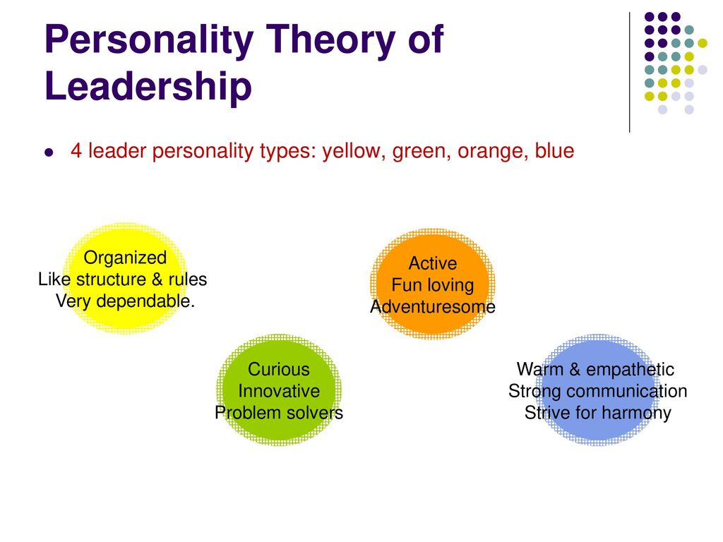 leader by personality