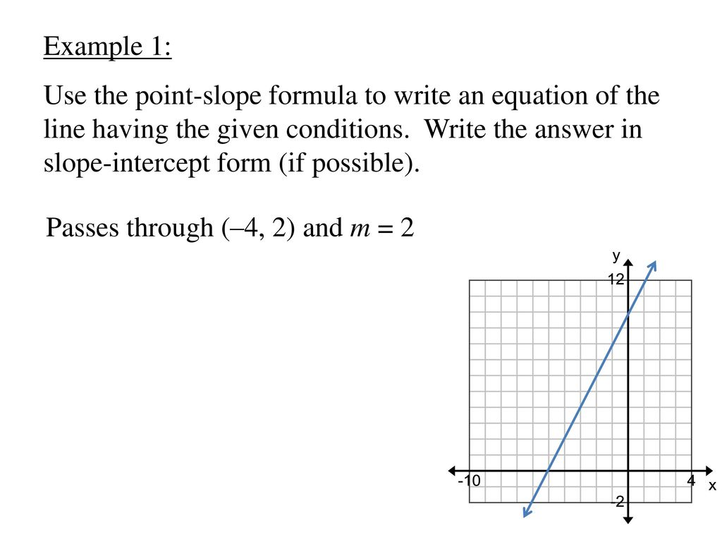 College algebra chapter 2 functions and graphs ppt download example 1 use the point slope formula to write an equation of the line falaconquin